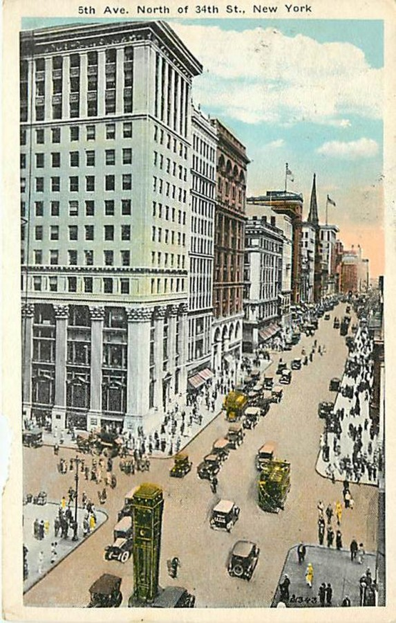 postcard Fifth Ave North from 34th St