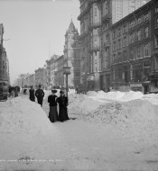 Old Photos Of New York City & Snow
