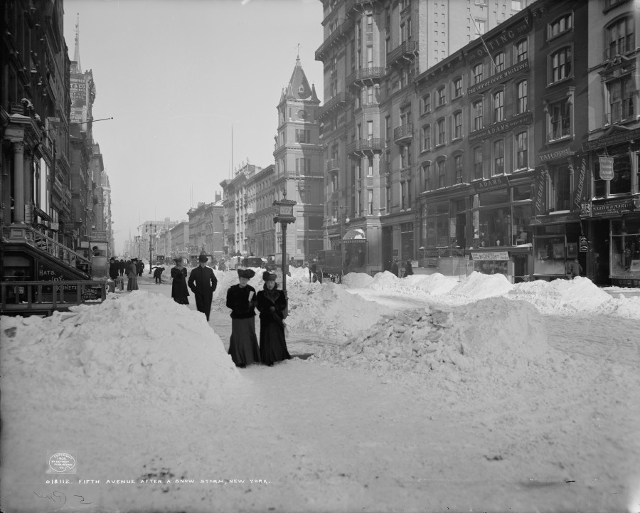 1905 Fifth Avenue & 27th Street after a big storm