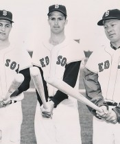 Carl Yastrzemski Heads Up The Red Sox Outfield – 1961