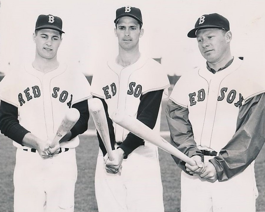 Carl Yastrzemski and Red Sox 1961 outfield