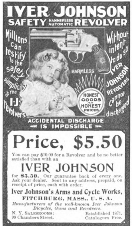 Colliers Ad Iver Johnson Revolver Features Child