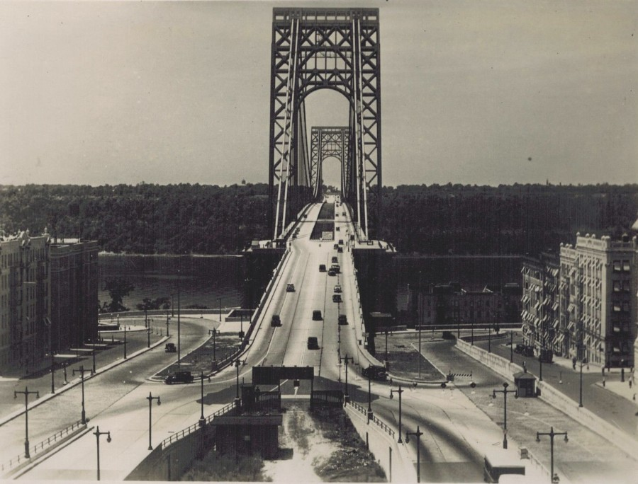 George Washington Bridge from Manhattan 1934