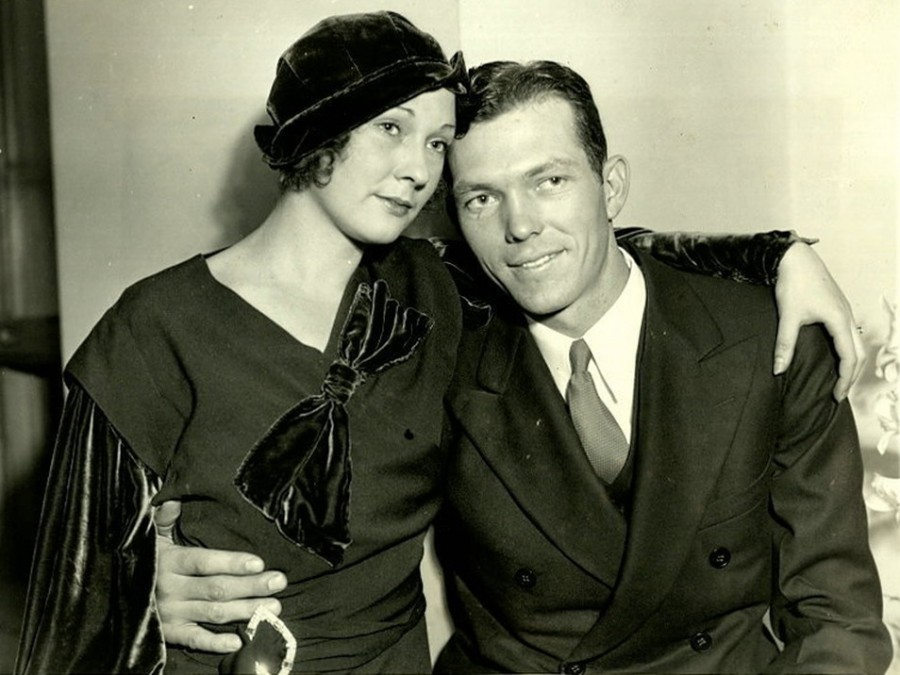 Bill Dickey and Wife Oct 4 1932