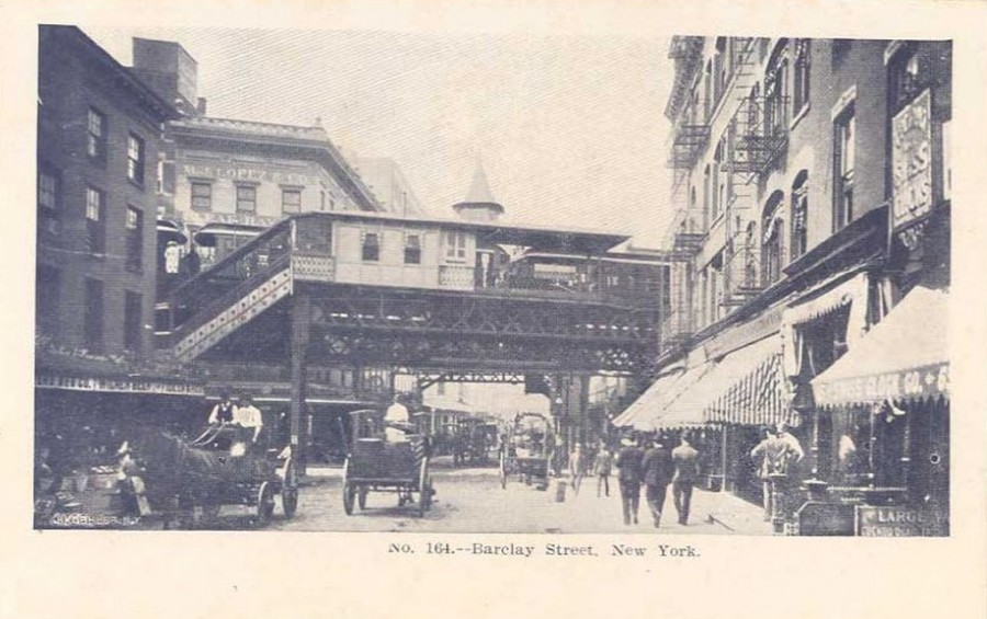 Ninth Avenue Elevated station at Barclay Street