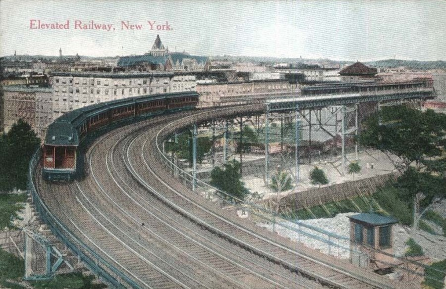 The sweeping and dramatic curve at 110th Street of the Ninth Avenue Elevated thrilled generations of passengers.
