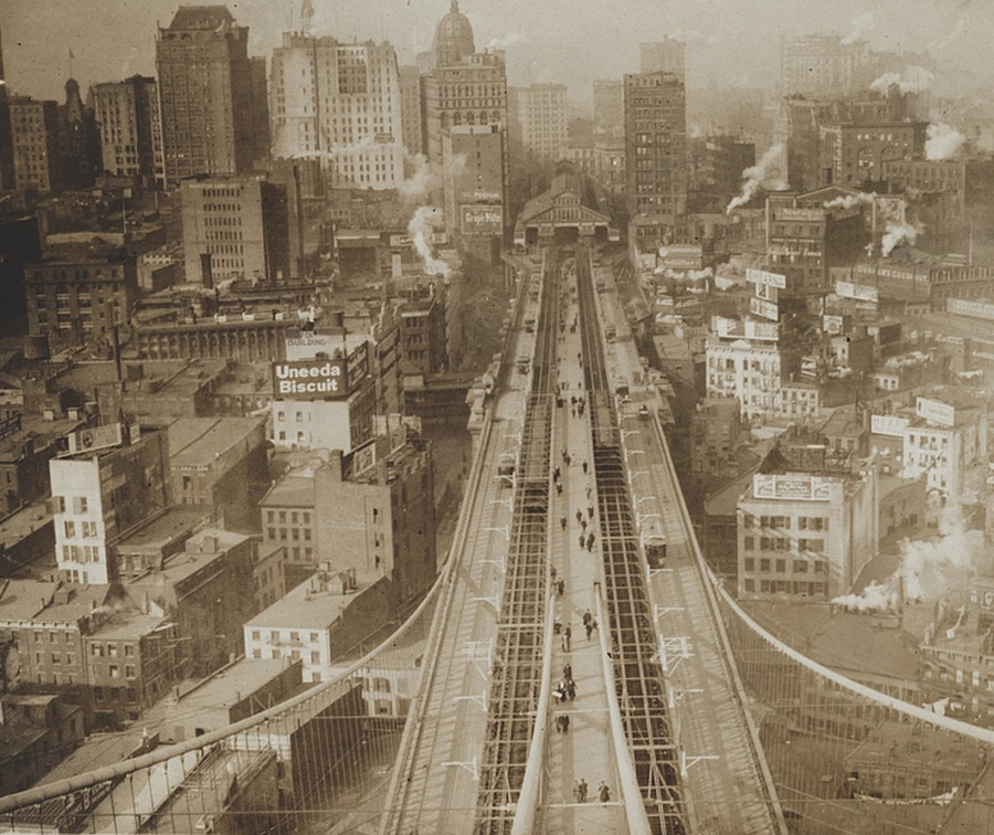 View Manhattan From Brooklyn Bridge tower circa 1905 loc