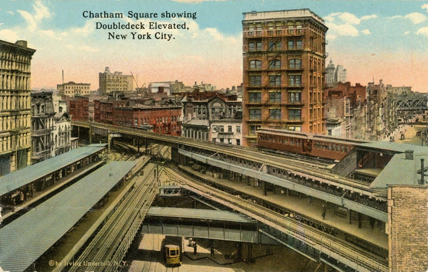 Old new york in postcards 14 the new york elevated