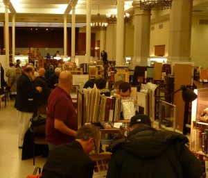 Wallace Hall book show attendees and booths