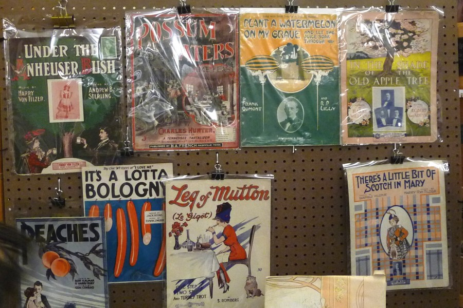176 Food related sheet music Lizz Young Books