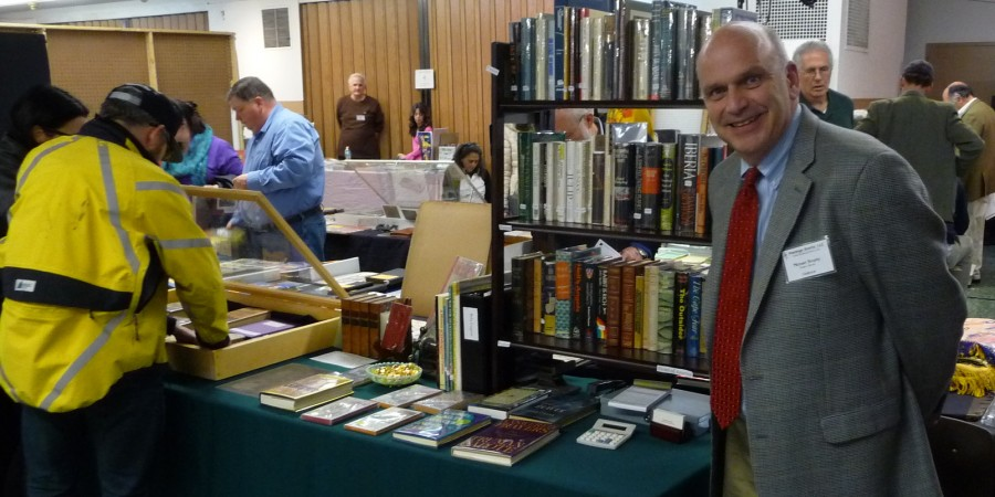 185 Doyles Books Michael Brophy and his booth