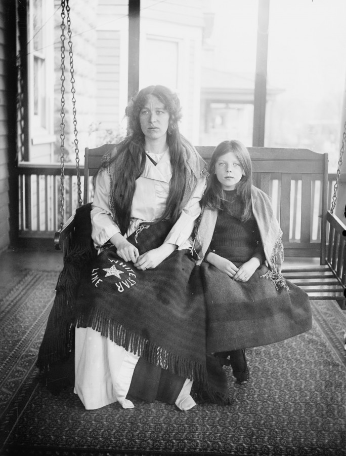 Charlotte and Marjorie Collyer Titanic survivors photo loc