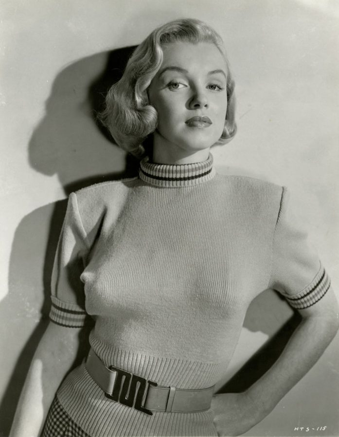 Marilyn Monroe in a publicity photo for Hometown Story a rarely seen 1950 film which includes Alan Hale Jr. (yes, the Skipper from Gilligan's Island!)