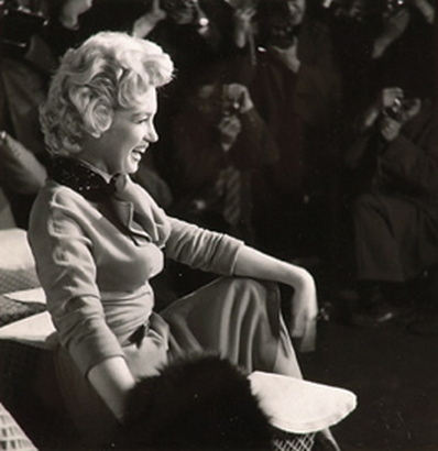 Marilyn Monroe in Korea 1954 photograph: Pan Asia news service