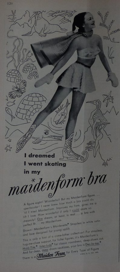 New Yorker 1949 Maidenform bra ad