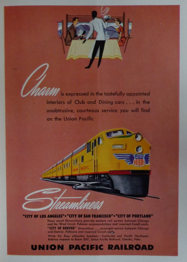 New Yorker 1949 Union Pacific Railroad Streamliner ad