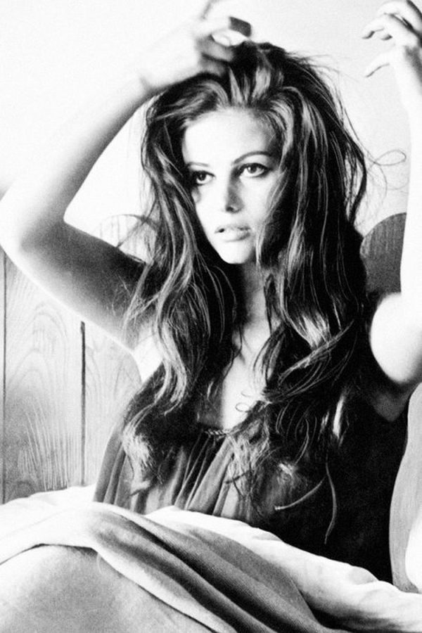 Claudia Cardinale moves her hair