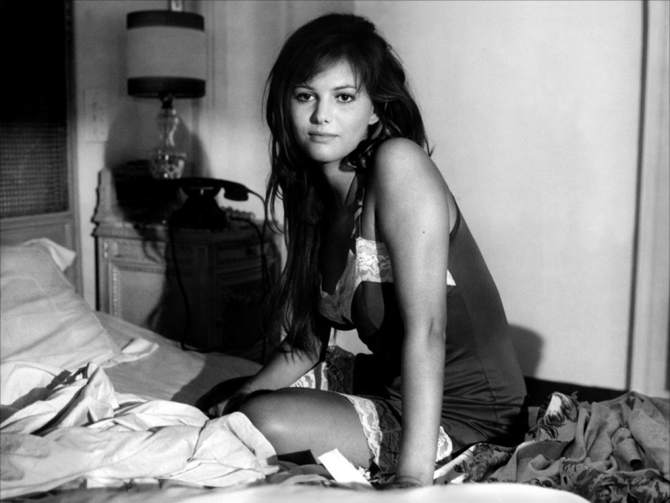 Claudia Cardinale Waits In Bed