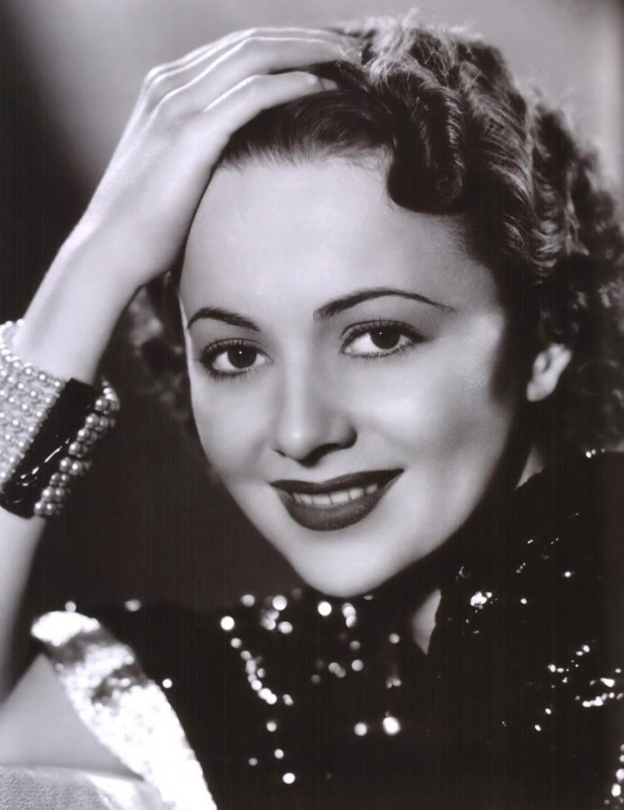 Olivia de Havilland in a pose from the 1930s