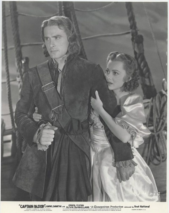 19-year-old Olivia de Havilland with Errol Flynn in Captain Blood