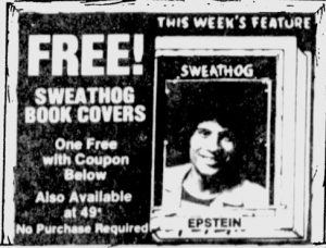 A P Ad Sweathog book cover Sept 1 1976