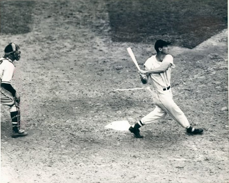 Ted Williams hitting a home run off of Rip Sewell's blooper pitch in the 1946 All-Star game