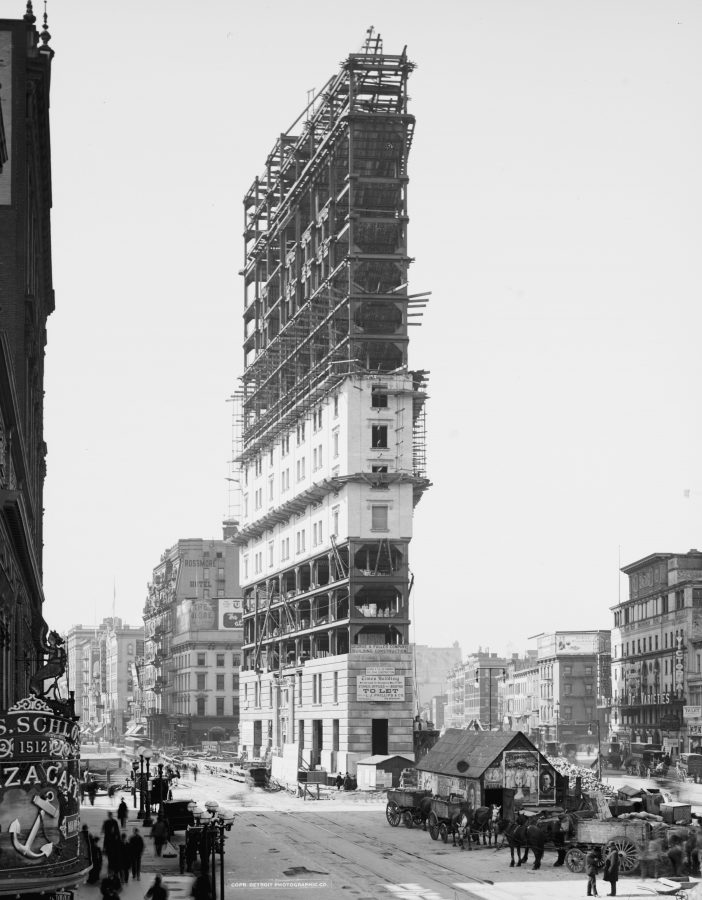 New York Times Building under construction
