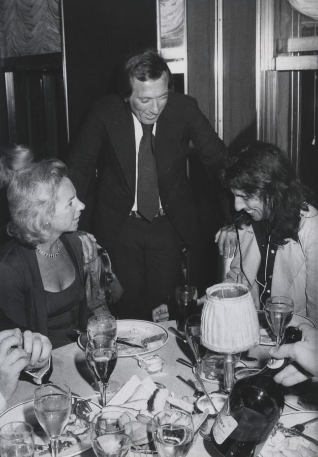 Alice Cooper Ethel Kennedy Andy Williams Rainbow Room Oct 16 1974 photo Tim Boxer
