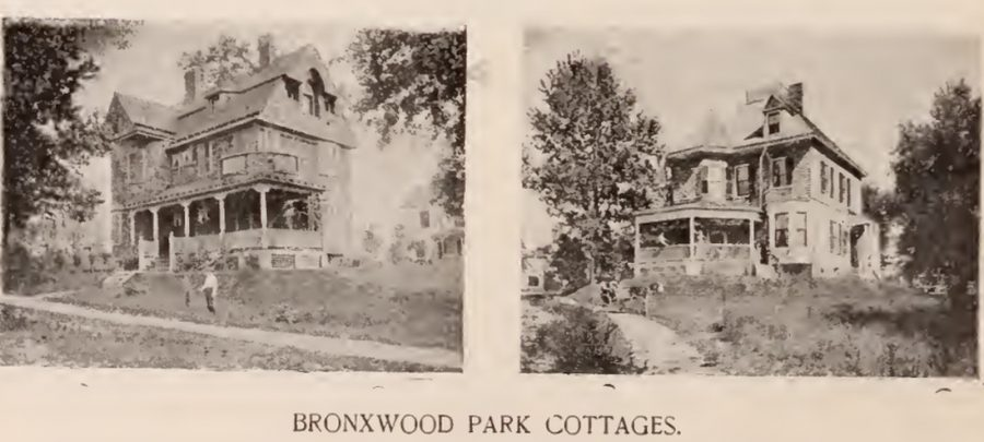 Bronxwood Park cottages Bronx 1897