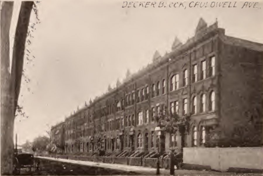 The Decker block of townhouses Cauldwell Avenue Bronx 1897