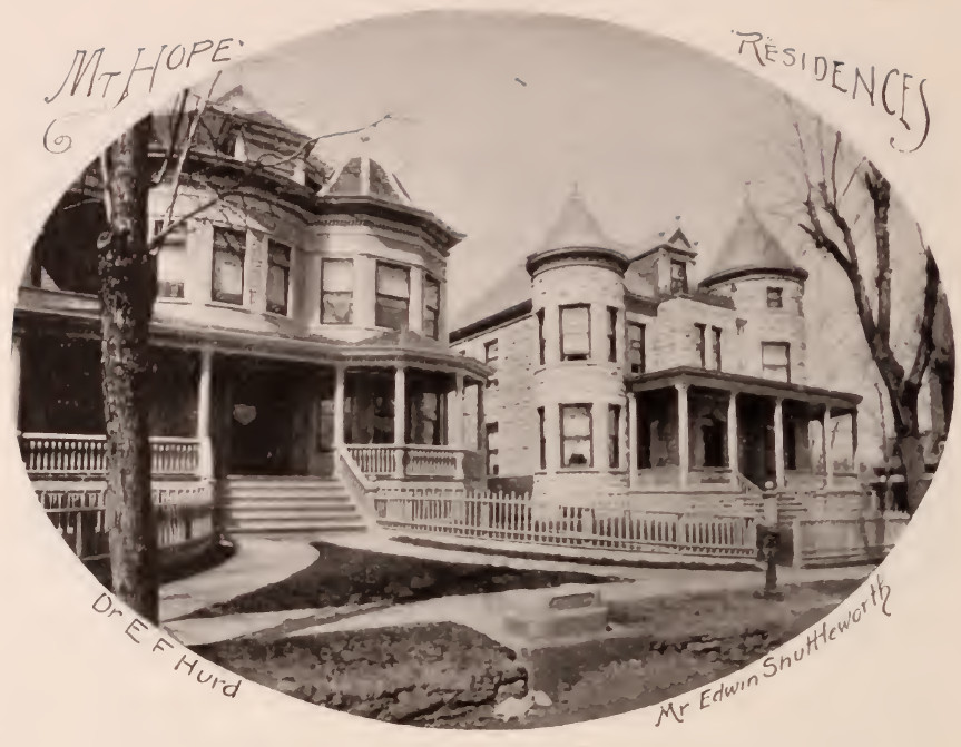 Dr. E.F. Hurd residence and Shuttleworth residence Mt. Hope Bronx 1897