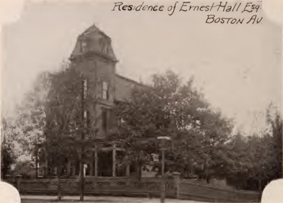 Ernest Hall residence Boston Avenue Bronx 1897