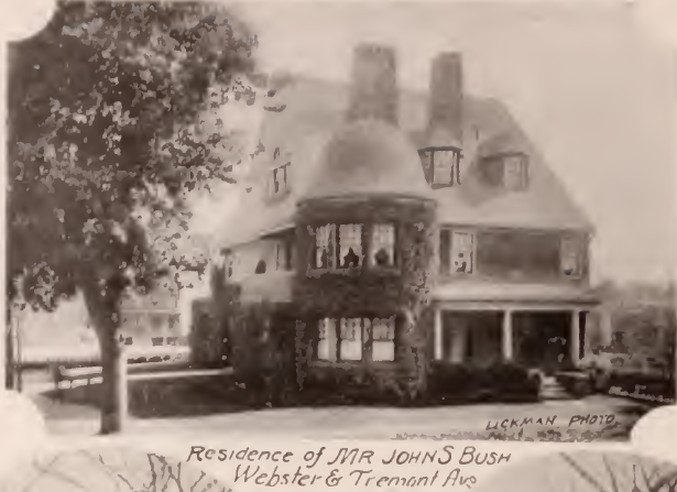 John Bush residence Webster Avenue and Tremont Bronx 1897