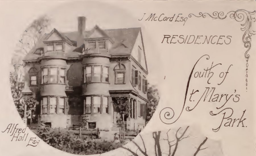 McCord / Hall residence south of St. Mary's Park Bronx 1897