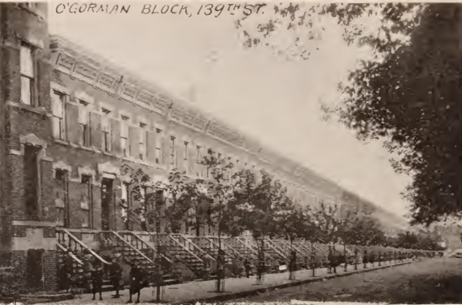 The O'Gorman block of townhouses 139th Street Bronx 1897