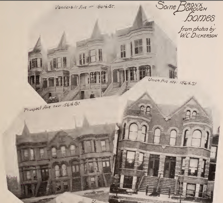 Homes on Union Avenue, Prospect Avenue and Vanderbilt Avenue 1897 Bronx