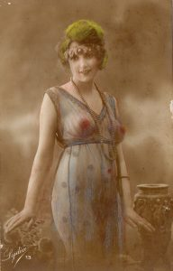 french-postcard-semi-nude-handcolored