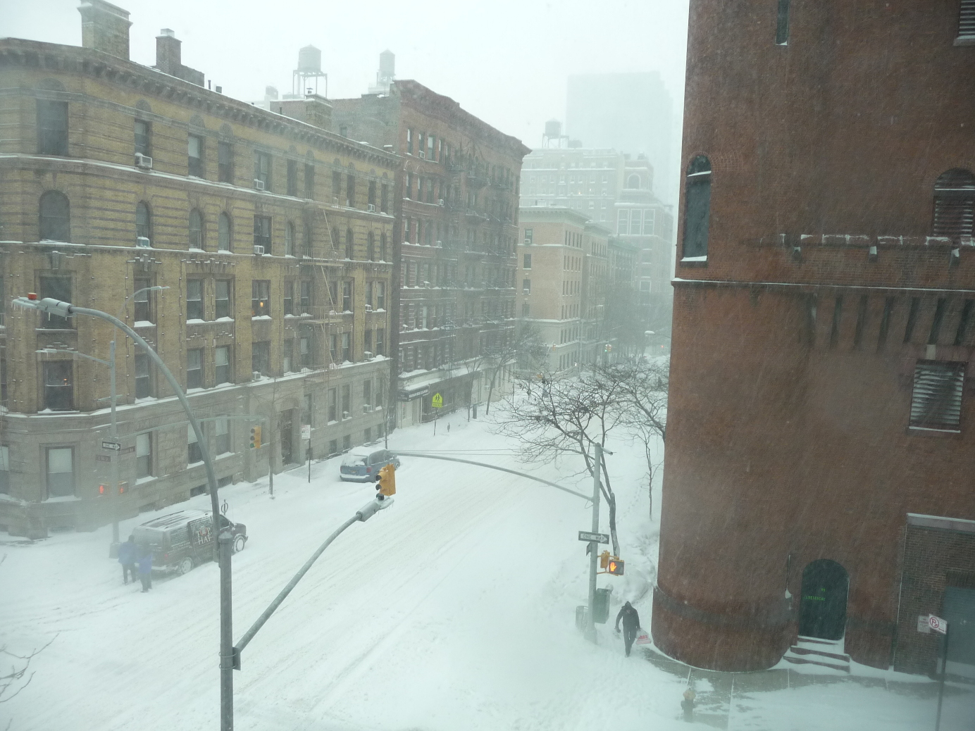 a look back at new york city s great blizzard of  madison avenue is nearly deserted few people and little traffic