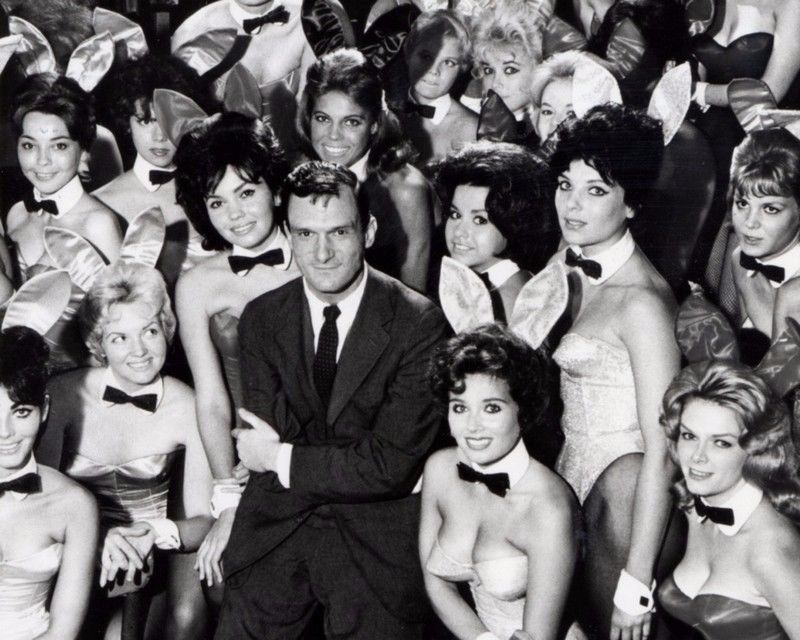 Hugh Hefner and playboy bunnies