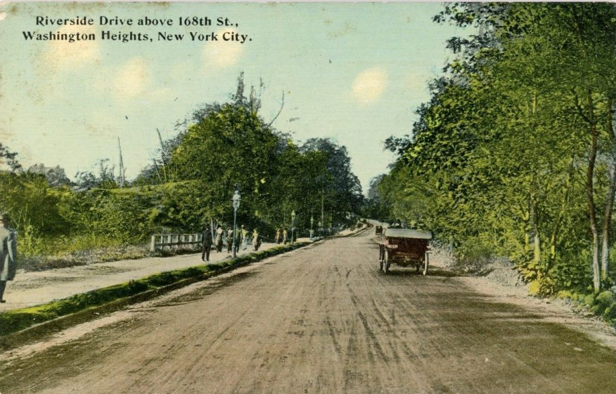 postcard Riverside Drive north of 168th Street