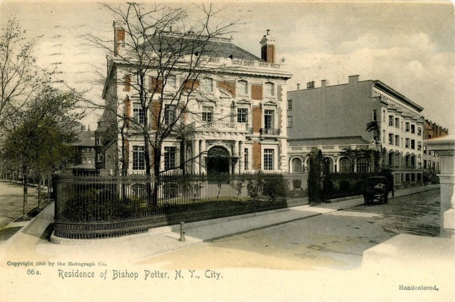 postcard Bishop Potter Residence 89th Street and Riverside Drive