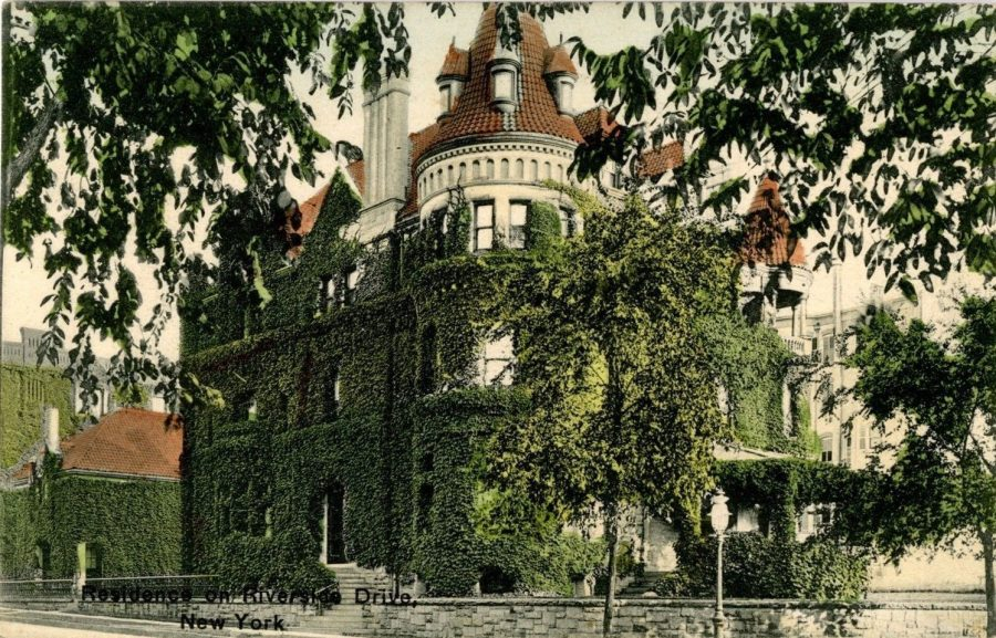postcard Mary Parsons residence 90th Street and Riverside Drive architect Cyrus Clark