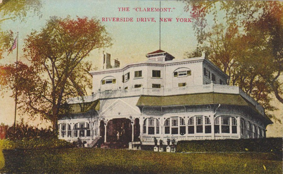 postcard Riverside Drive Claremont Hotel and Restaurant