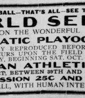 "How Baseball Fans ""Watched"" The 1911 World Series"