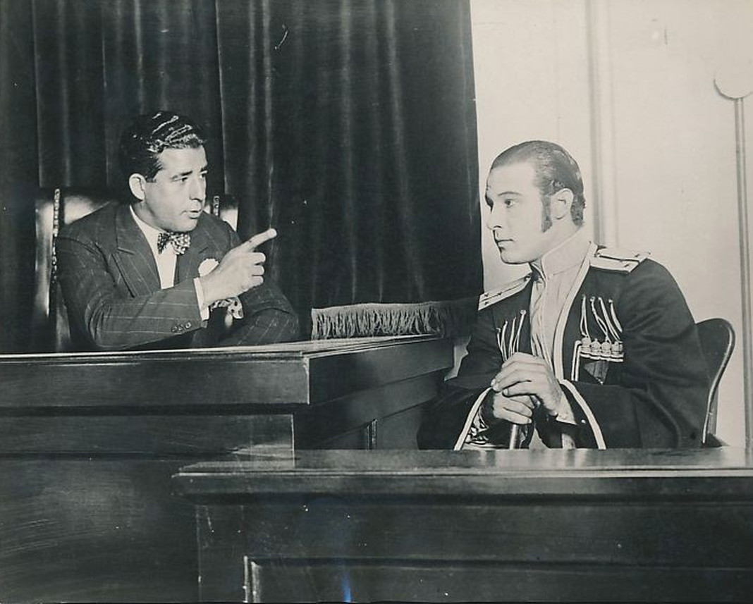 Classic Hollywood #66 – Rudolph Valentino Goes To Court In Costume