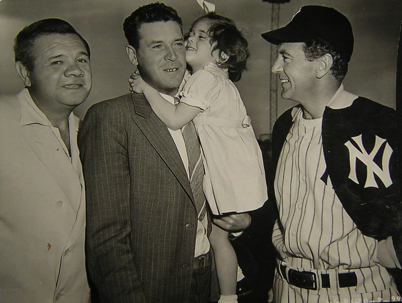Babe Ruth & Gary Cooper Welcome Visitors On The Set of The Pride Of The Yankees