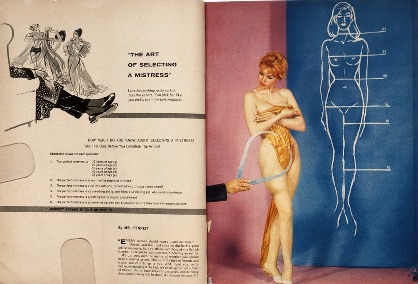 """How To Choose A Mistress - In The """"Politically Incorrect"""" 1960s"""