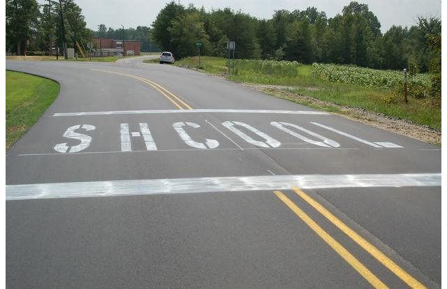 Misspelling of school on North Carolina road