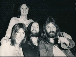 "Foghat members Tony Stevens, ""Lonesome Dave"" Peverett, Rod Price, Roger Earl"