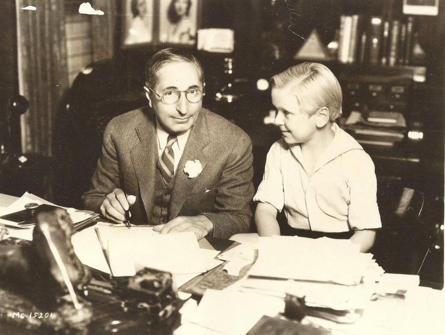 Jackie Cooper child star signs contract with MGM Louis B Mayer